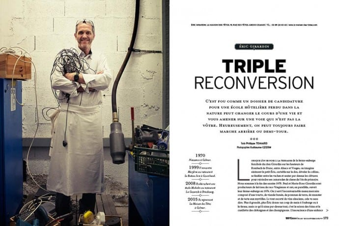 La triple reconversion du chef Eric Girardin