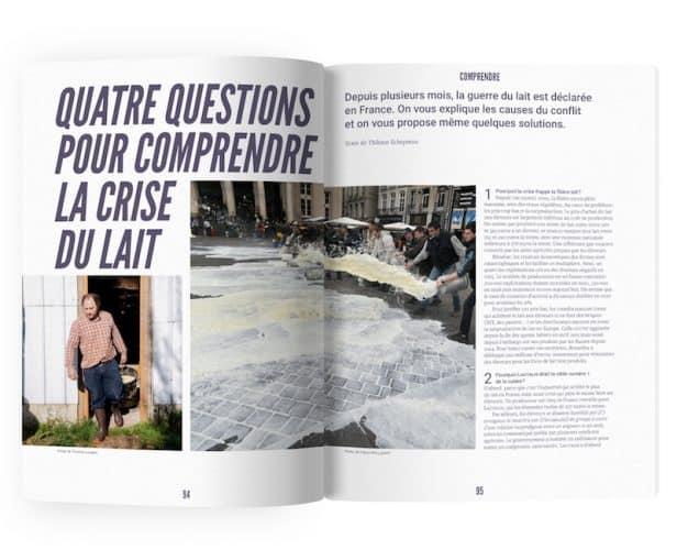 Comprendre, avec des articles bien construits comme celui consacré à la crise du lait - © La Ruche qui dit Oui !