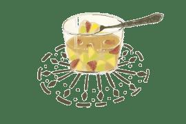 Aspic de figues et de prunes à l'infusion de menthe et verveine fraîche 4