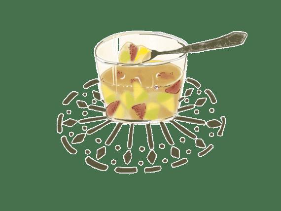 Aspic de figues et de prunes à l'infusion de menthe et verveine fraîche 7