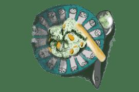 Crème de haricots verts au chèvre frais 2