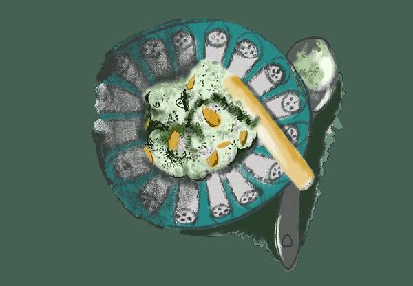 Crème de haricots verts au chèvre frais 1