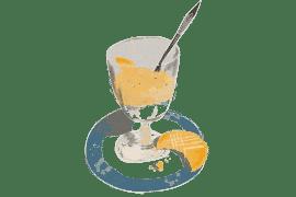 Fromage blanc de brebis, purée de poires et bananes et sablés au citron 5