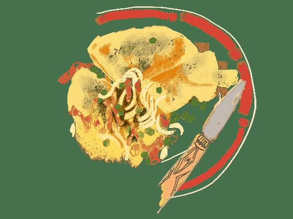 Galettes de semoule et frichti de petits pois et fenouils 1