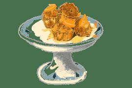 Petits gâteaux de pain de mie rassis<br>à l'orange 2