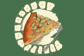 Gâteau à la rhubarbe et gingembre 4