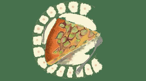 Gâteau à la rhubarbe et gingembre