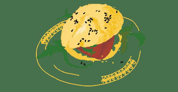 Minis sandwichs pour buffet chic