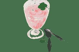 Mousse de cerise à la menthe