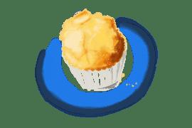 Madeleines ou muffins au citron vert