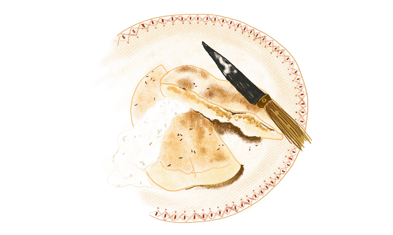 Naans aux fromages 1