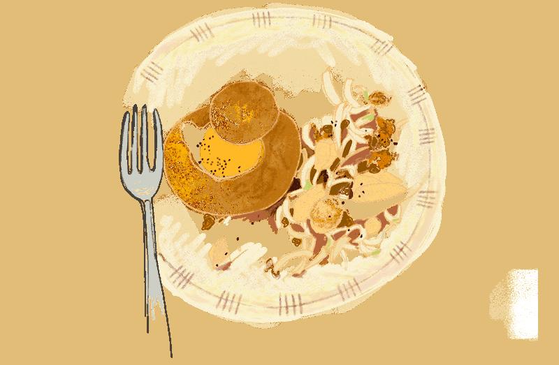 Oeuf cocotte brioché et salade d'endives à la noix 1