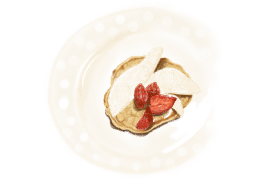 Pancakes avec des fruits 2