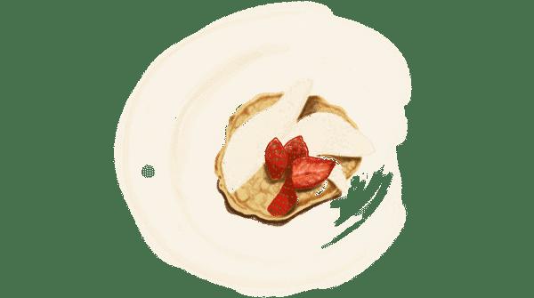 Pancakes avec des fruits