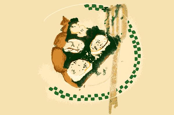 Pizza verte aux épinards et chèvre frais 1