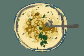 Sauce au yaourt épicée pour pois chiches esseulés