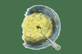 Purée de courgettes, pommes de terre et chèvre