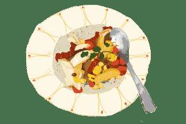 Salade tiède complète et chouette 2