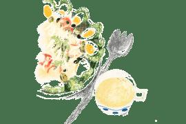 Salade Rosalie et sauce César 2