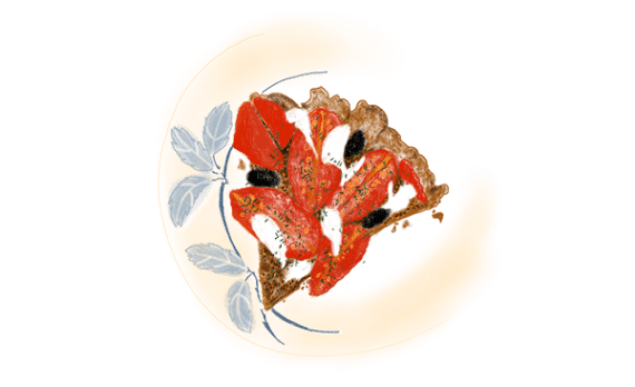 Tarte au romarin et tomates 12