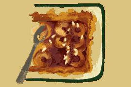 Terrine de pommes au four