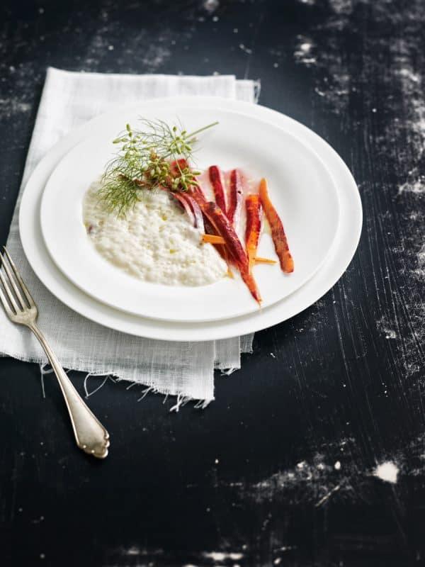 Camembert à la vanille Bourbon et carottes violettes 1