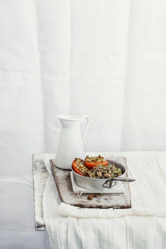 Croustille d'agneau et tomates rôties