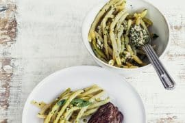 Haricots beurre au pesto et onglet grillé 2