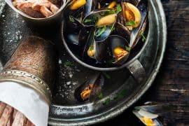 Moules marinières et frites de taro 3