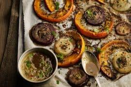 Potimarron rôti au sésame et vinaigre balsamique