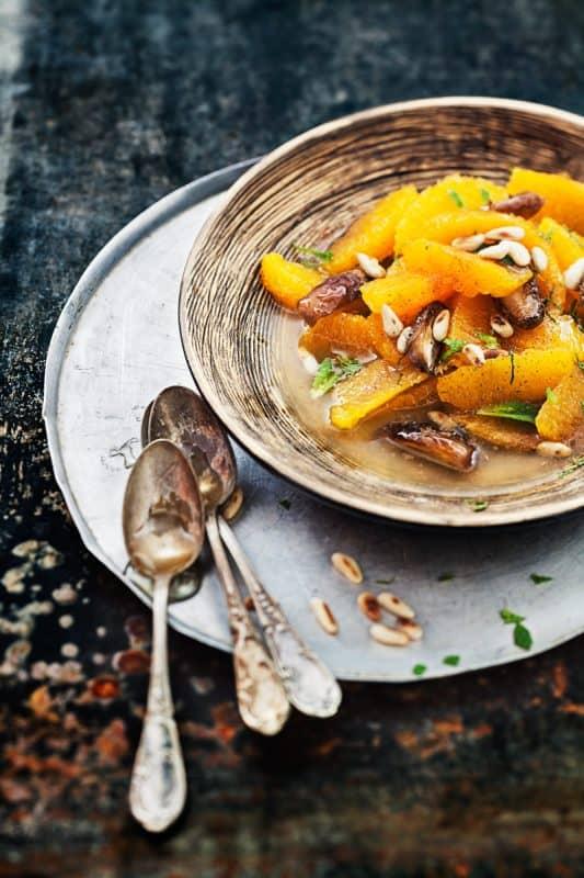 Salade d'oranges à la cannelle et aux dattes 1