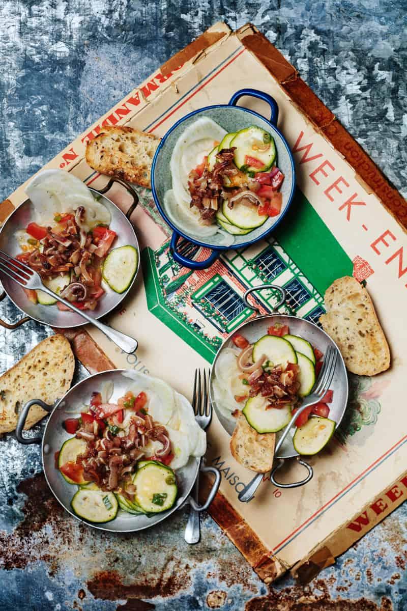 salade d'oreilles de cochon sautées