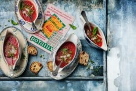 """soupe froide """"poivrate""""  avec poivrons et tomates 2"""