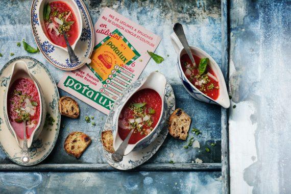 """soupe froide """"poivrate""""  avec poivrons et tomates 15"""
