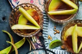 Melon d'eau au sirop de menthe<br>et gingembre