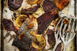 Pavés de saumon marinés et betteraves rôties 4