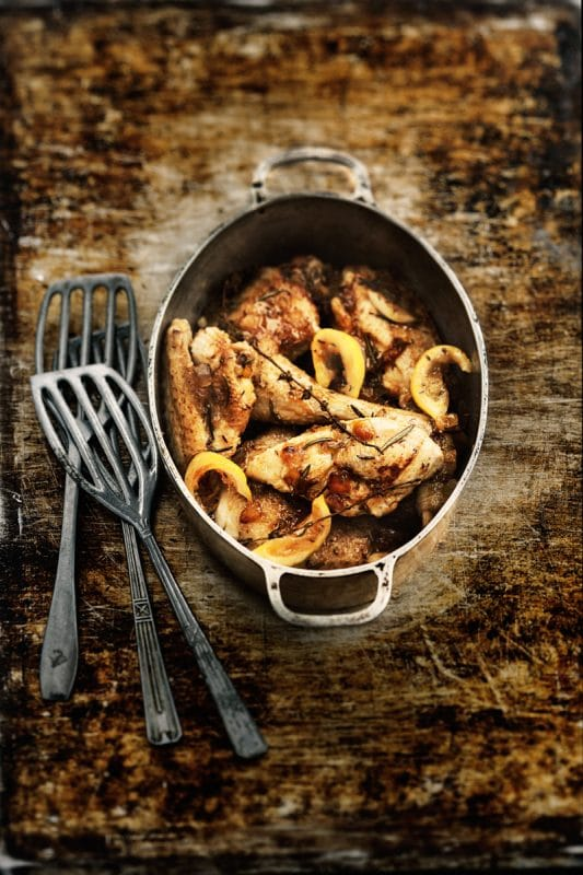 Cocotte de poulet au citron et cédrat confit 1