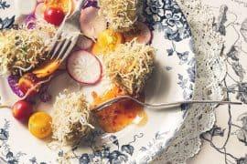 Boulettes de poulet aux vermicelles de riz 2