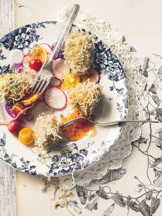 Boulettes de poulet aux vermicelles de riz