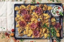 Croquettes de pommes de terre à la polenta et fromage frais aux herbes 4