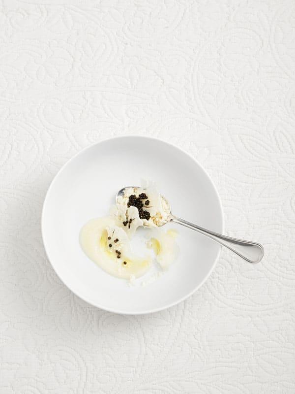 Crème Dubarry glacée, fleurette et caviar 1