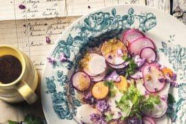 Jeunes légumes au citron et au sel