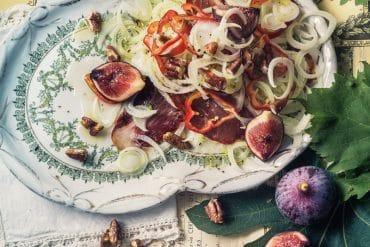 Soupette froide, ou pas,<br>de fèves aux lardons