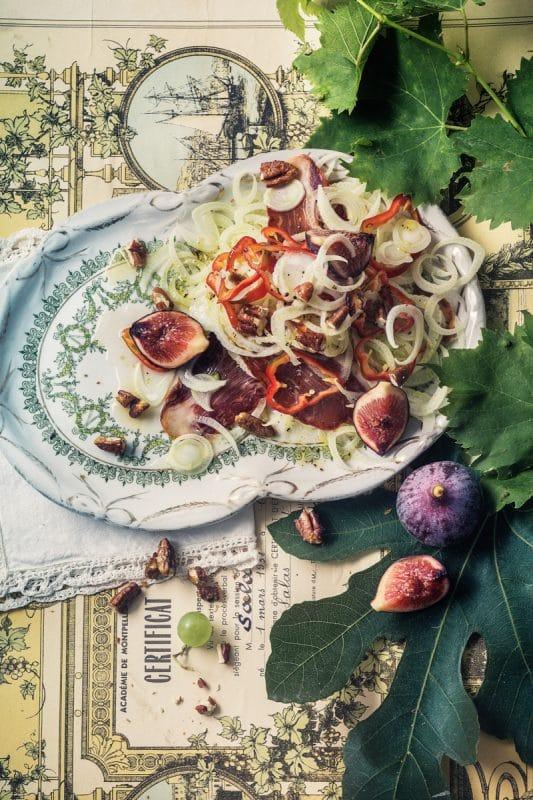 Salade de fenouil aux noix de pécan caramélisées