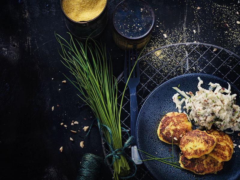 Polenta croustillante au fribourg<br>et chou-rave à l'orange 1