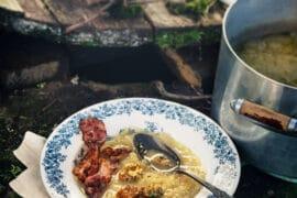 Soupe à l'oignon y croûtons