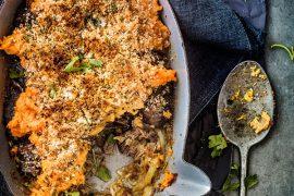 Parmentier de bourguignon<br>aux patates douces 3