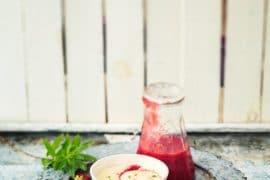 Gaspacho fraises et verveine, mousse au chocolat blanc 3