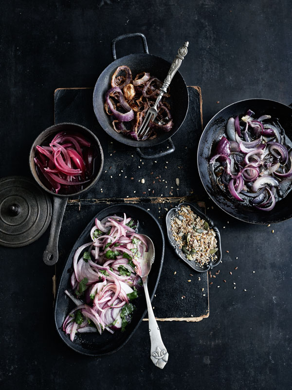 Salade d'oignons rouges aux graines (le dire vite 10 fois)