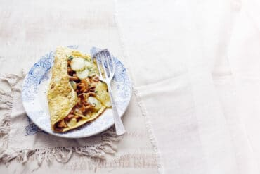 Omelette aux girolles 4